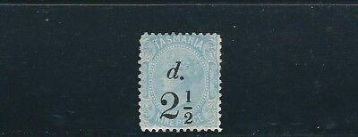 scott 74 2 1/2d An 9d Australien Tasmanien 1891 Überdruck Mh
