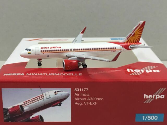 Herpa 531177-1//500 Air India airbus a320neo-VT-exf-nuevo