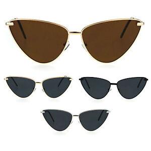 1535f5615126 Womens Retro Funk Gothic Unique Cat Eye Metal Rim Sunglasses   eBay