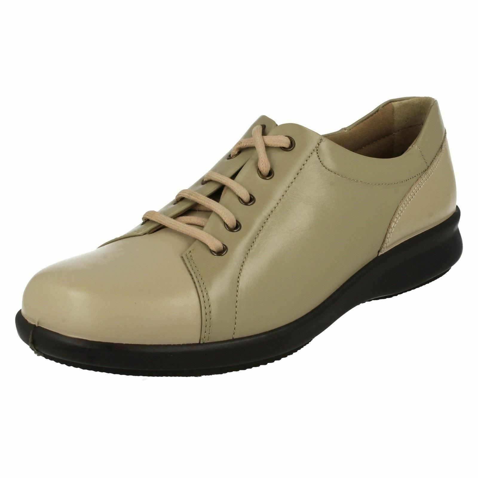 2eab34f7a0b73 Ladies Easy B Casual Lace up Shoes Phoebe UK 8 Beige taupe EE