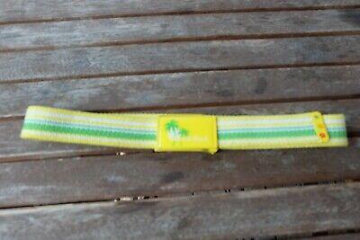 Kinder Gürtel Stoffgürtel Gelb Grün Gesamtlänge 71 Cm