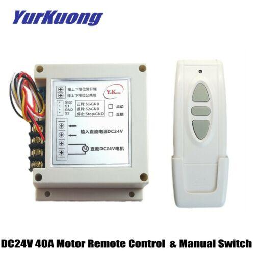 Water pump Motor Remote Control Switch DC24V 40A 600W Motor Manual Remote Contro