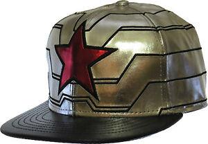 Marvel-Comics-Winter-Soldier-Captain-America-Silver-Snapback-cap