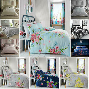 New-Floral-Duvet-Quilt-Cover-Bedding-Set-With-Pillowcases-In-Single-Double-King