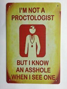 Metal-Tin-Sign-Proctologist-Sign-Decor-Bar-Pub-Home-Vintage-Retro