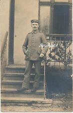 Foto-Portrait Feldgraue-Soldat mit EK 2   1.WK (t664)