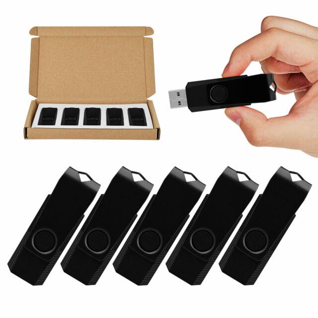 Lot of Ten Swivel 1GB USB 2.0 Flash Drives Flash Memory Stick Rotating Thumb Pen
