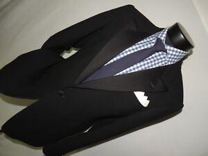 Giorgio-Armani-men-039-s-1-Button-PEAK-lapels-formal-tuxedo-jacket-42-R