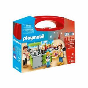 Dettagli su Playmobil 9543 City Life Famiglia Cucina Custodia Portatile