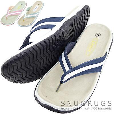 Señoras/Gamuza Cuero para Mujer Playa/Verano/Zapatos Sandalias Vacaciones/Flip Flop
