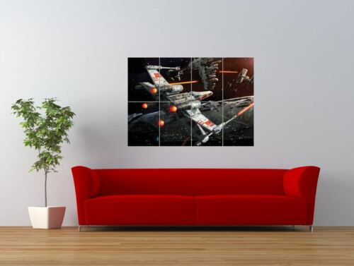 STAR WARS X WING SPACE BATTLE SPACESHIP GIANT ART PRINT PANEL POSTER NOR0646