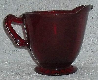 SchöN Anker Hocking Royal Ruby Sahnekännchen Rot Glas Kostenlose Versand QualitäT Zuerst