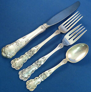 s French 4pc Buttercup by Gorham Sterling Silver Dinner Size Place Setting