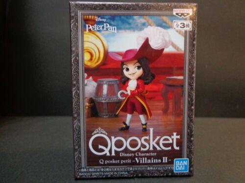 Banpresto Q Posket Petit Disney Figure Villains II Peter Pan Captain Hook NEW