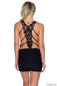 Das Bild wird geladen Sexy-Traeger-Minikleid-Kleid -mit-Stickerei-Rueckenfrei-gerafft- 22fc0eabf0