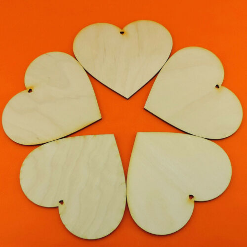 Holzherzen mit Herzloch 6cm 11cm Tischkarte Dekoration EHL Herzen aus Holz 8cm