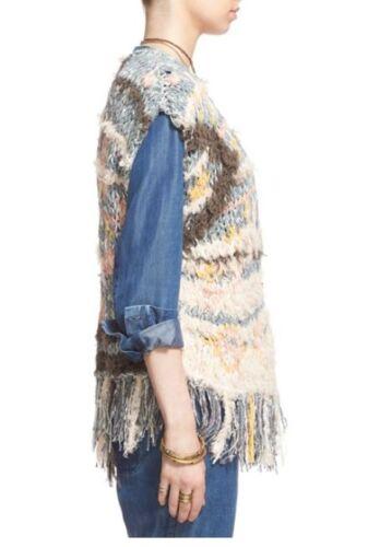 NWT Free People /'Rag Rug/' Knit Vest Retail $298