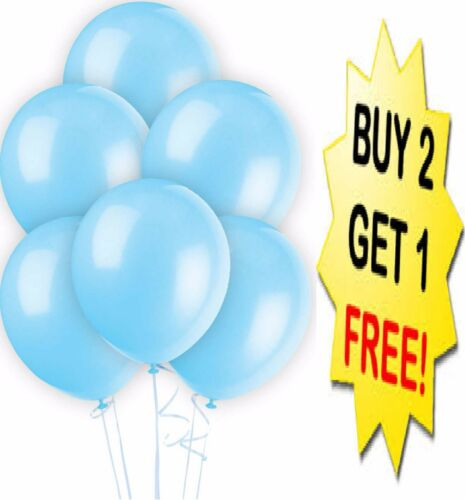 20 X Latex PLAIN BALOONS BALLONS helium BALLOONS Quality RIBBONS Party Birthday