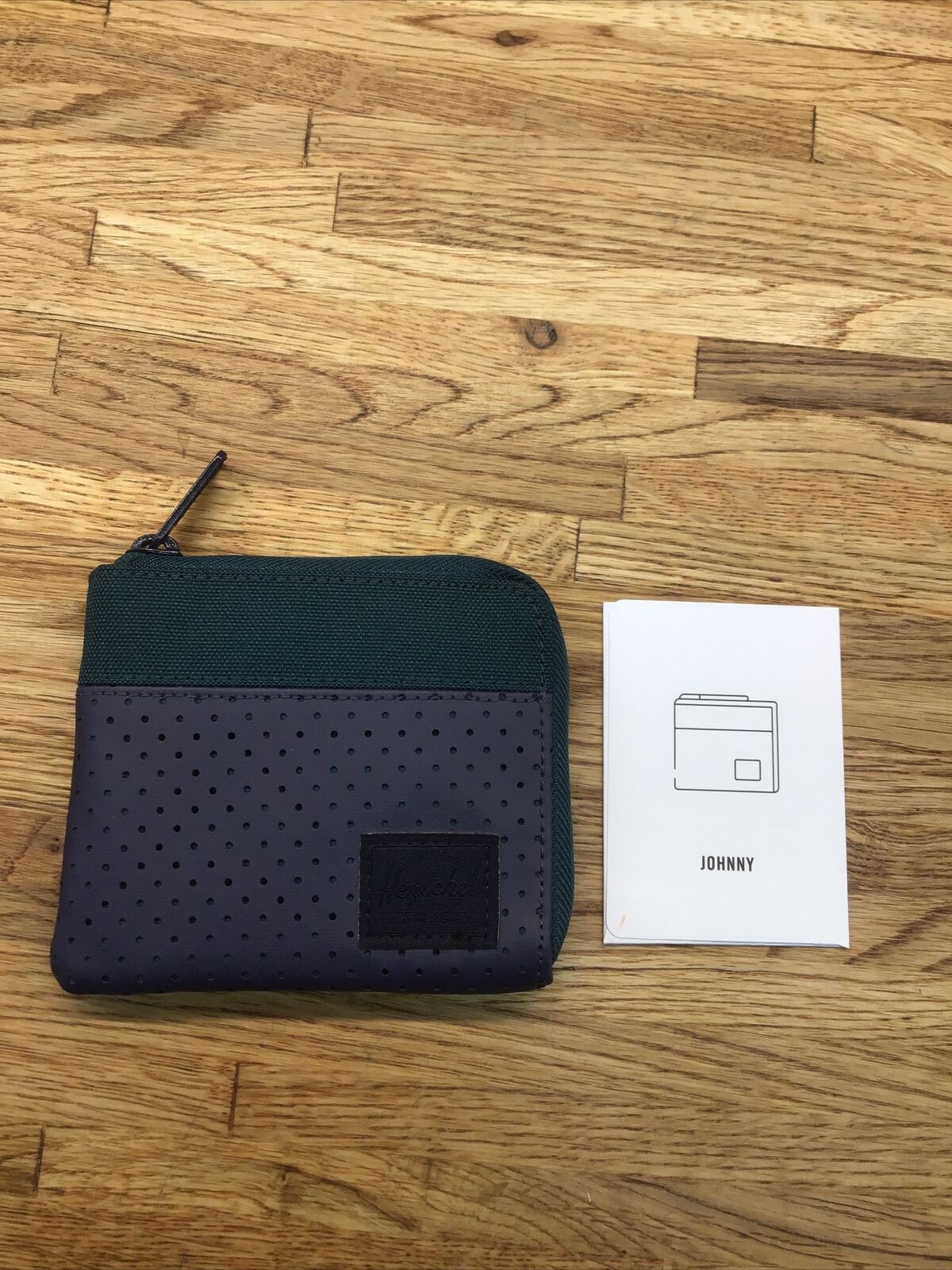 Herschel Supply Co Johnny RFID Blue/ Green Wallet One Size New PP-6