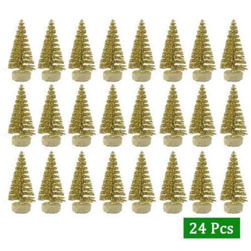 12//24PC Mini Christmas Tree Decor Trees Party Miniature Cedar Ornaments Desktop/'
