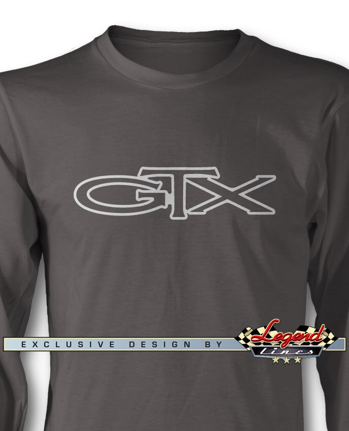 1967 - 1971 Plymouth GTX Emblem Long Sleeves T-Shirt - Multiple colors & Sizes