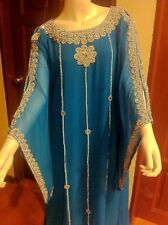 Beautiful Dubai Caftan Dress Jilbab Islamic Kheleeji Sequins Arabian Abaya 11004