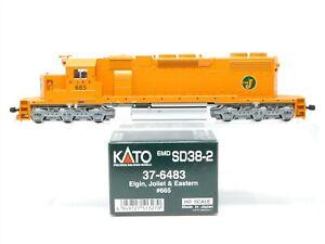 HO Scale Kato 37-6483 EJ&E Elgin Joliet & Eastern SD38-2 Diesel Locomotive #665