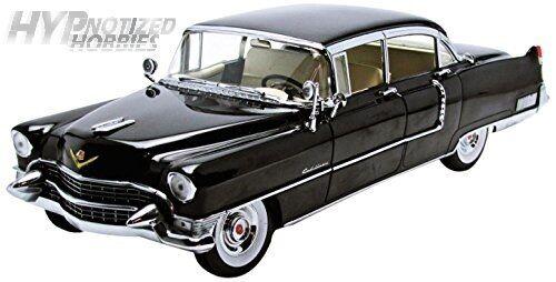 Luz verde 1 18 1955 Cadillac Fleetwood Serie 60 Die-Cast negro 12923