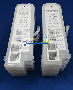 6 NEW Compatible Canon ipf 500 600 605 700 720 PFI-102 INK cartridges tank 00000
