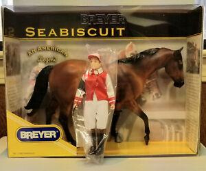Breyer-Seabiscuit-with-Jockey-Set-Model-Horse-Limited-Edition-NIB