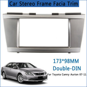 2-Din-Car-Stereo-Frame-Facia-Trim-Panel-Trim-Kit-For-Toyota-Camry-Aurion-07-11