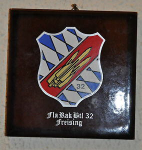 German 32 Flugabwehrraketenbataillon tile plaque Fla Rak Btl 32 Friesing - <span itemprop=availableAtOrFrom>Wisbech, United Kingdom</span> - Returns accepted Most purchases from business sellers are protected by the Consumer Contract Regulations 2013 which give you the right to cancel the purchase within 14 days after the day  - Wisbech, United Kingdom