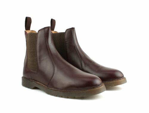 Hommes Chaussures Air Cuir Semelle Noir Neuve Chelsea Bottines Véritable fxrfwq0U