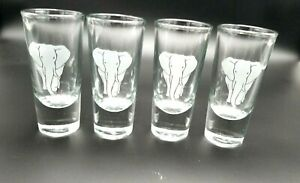 Crisa-Frosted-Etched-Elephant-Heavy-Bottom-Double-Shot-Glasses-Set-of-4