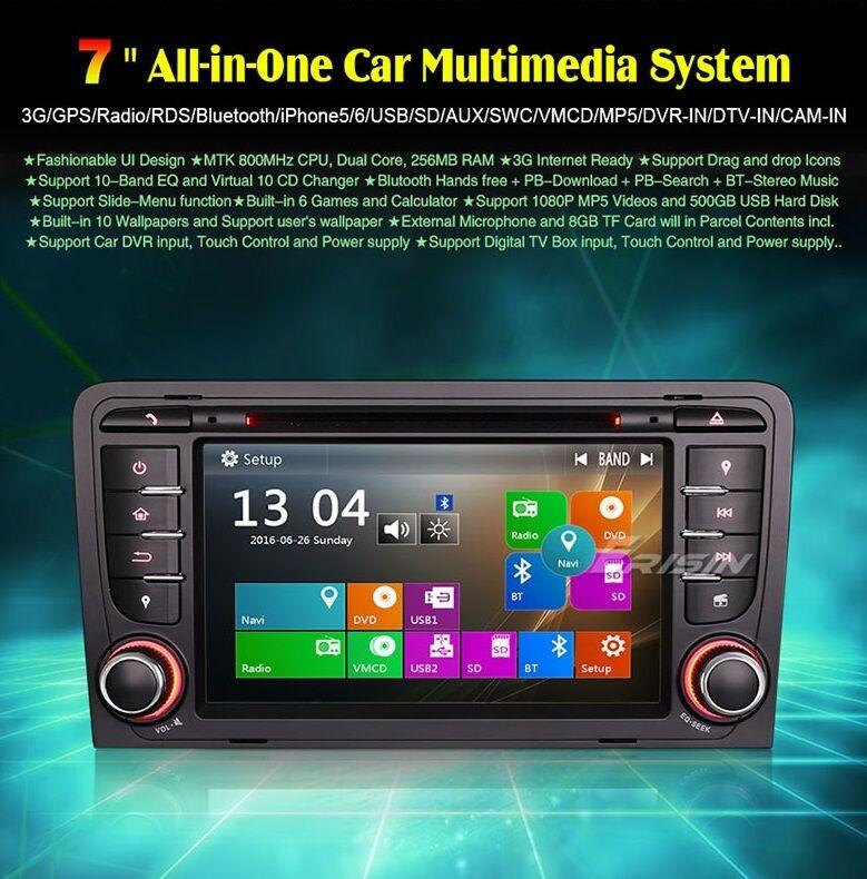 s l1600 - RADIO DVD AUDI A3 BLUETOOTH,GPS,TDT, HD, MP4, USB...
