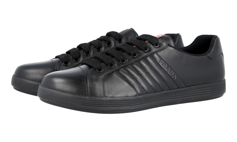 zapatos PRADA LUXUEUX 4E3366 negro NOUVEAUX 10,5 44,5 45