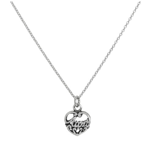 environ 81.28 cm Sterling Silver filigrane tante Love Collier Coeur 16-32 In