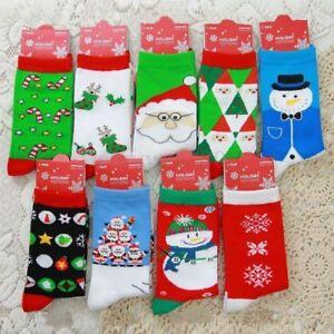 Mens-Womens-Christmas-Cotton-Socks-Santa-Snowman-Snowflake-Socks-Stocking-Filler