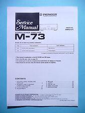 Service manual manual for Pioneer M-73