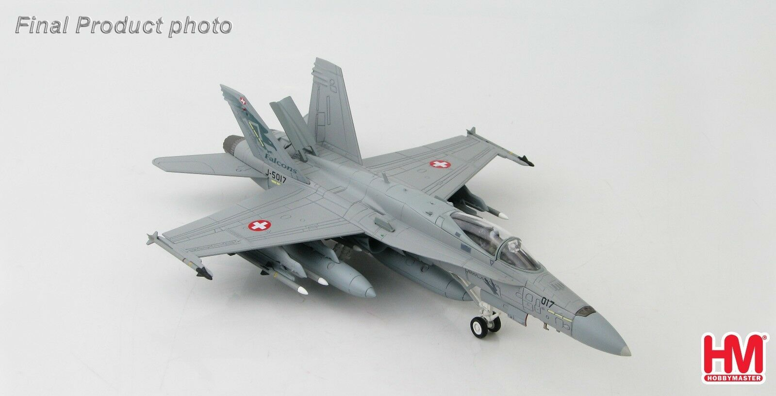Hobby Master HA3527 F A-18C Hornet Swiss Air Force J-5017, 17 Staffel  FAUCONS