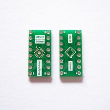 10 Pcs LGA Qfn16 Pin Pitch 0.5mm to Dip16 2.54mm Adapter PCB Board Converter B26