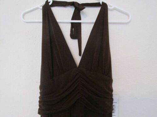 For New Abito Stretch Bee Women Backless di marrone impero Robbie Signature FHHqdw