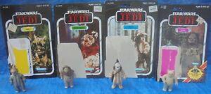 Star Wars Kenner - Figurine Arrière Carte Carte Lot Lumat Logray Chirpa Teebo 1983