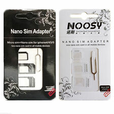 2Pcs/set 3 in 1 Micro Standard Adapter Nano Sim Card To Adaptor Converter