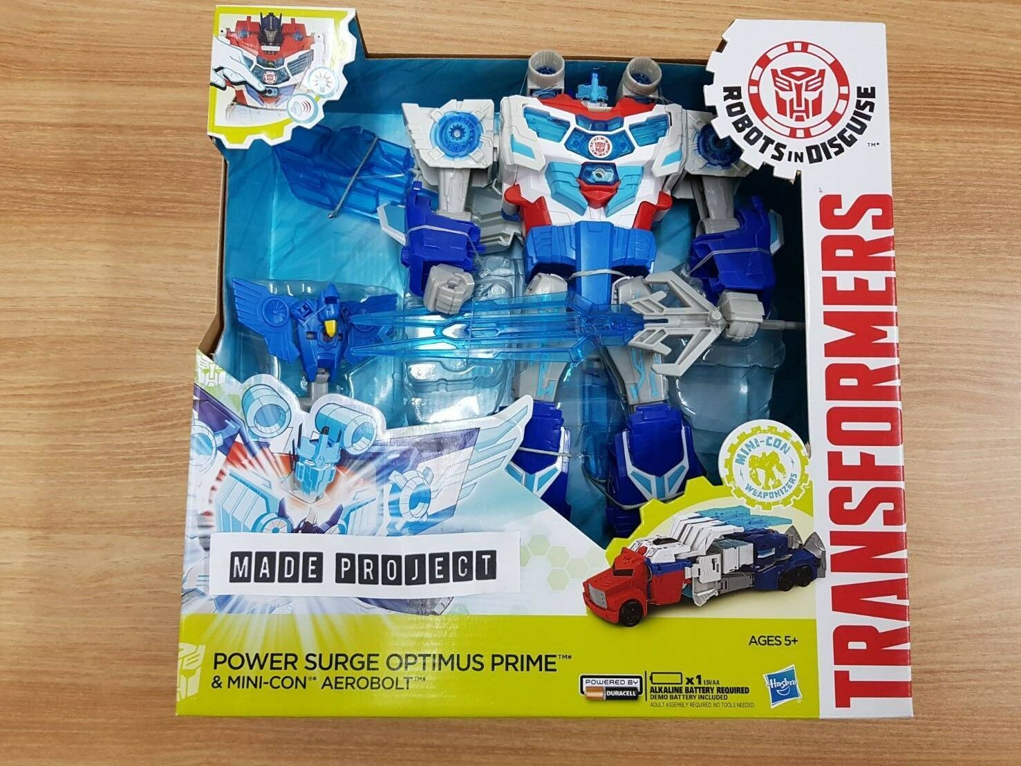 Hasbro Transformers Robots in Disguise Power Surge Optimus Prime&Aerobolt New