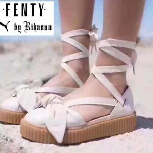 b76a4ae9e68 NEW  180 Sz. 10 PUMA Rihanna FENTY Creeper Platform Sandals in Cream ...