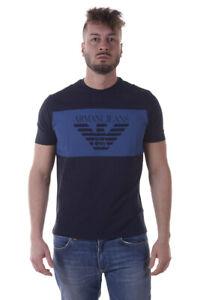 T-shirt-Maglietta-Armani-Jeans-AJ-Sweatshirt-Cotone-Uomo-Blu-3Y6T246J00Z-1579
