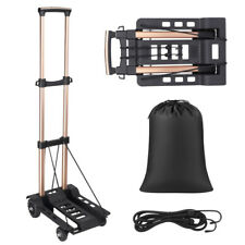 Folding Hand Truck Dolly Luggage Cart Portable Aluminum Utility Cart With 4 Wheels