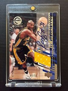 RARE-2000-01-UPPER-DECK-REGGIE-MILLER-GAME-USED-JERSEY-PATCH-44-50-AUTO-SIGNED
