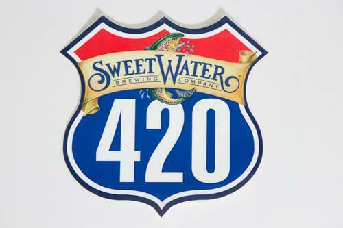 BEER Stoner sign 2 SWEETWATER BREWING 420 LOGO STICKERS DECALS 2 stickers